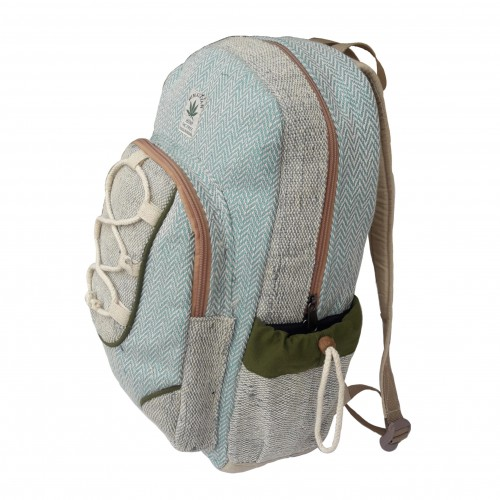 Hemp Backpack light Blue