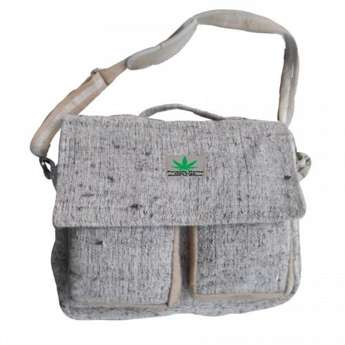 BROWN HEMP LAPTOP BAG