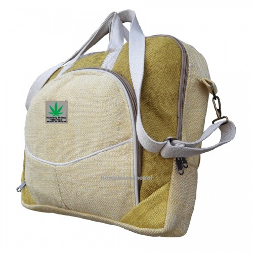 NATURAL YELLOW HEMP LAPTOP BAG